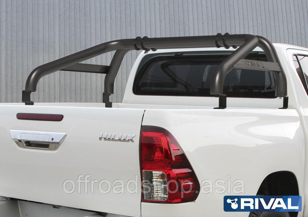 Дуги кузова RIVAL d76, черные Toyota Hilux, 2015-