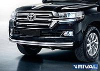 Защита переднего бампера 75х42 овал Toyota Land Cruiser 200, 2015-