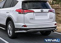 Защита заднего бампера d57 уголки Toyota Rav 4, 2015-