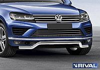 """Защита переднего бампера d57 """"волна"""" Volkswagen Touareg, 2010-2018"""