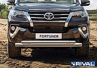 Защита переднего бампера d76+d57 Toyota Fortuner, 2017-