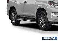 Защита штатного порога d42 Toyota Land Cruiser 150 Prado, 2017-