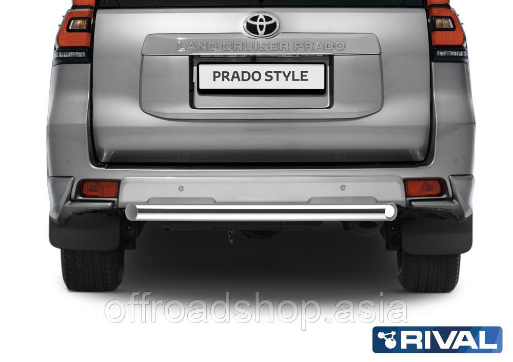 Защита заднего бампера d76 короткая Toyota Land Cruiser 150 Prado, 2017-