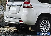 Защита заднего бампера d76 короткая Toyota Land Cruiser Prado, 2009-2013-2017