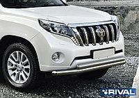 Защита переднего бампера d76+75x42 овал Toyota Land Cruiser Prado, 2009-2013-2017