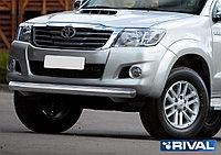Защита переднего бампера 75х42 овал Toyota Hilux, 2011-2015