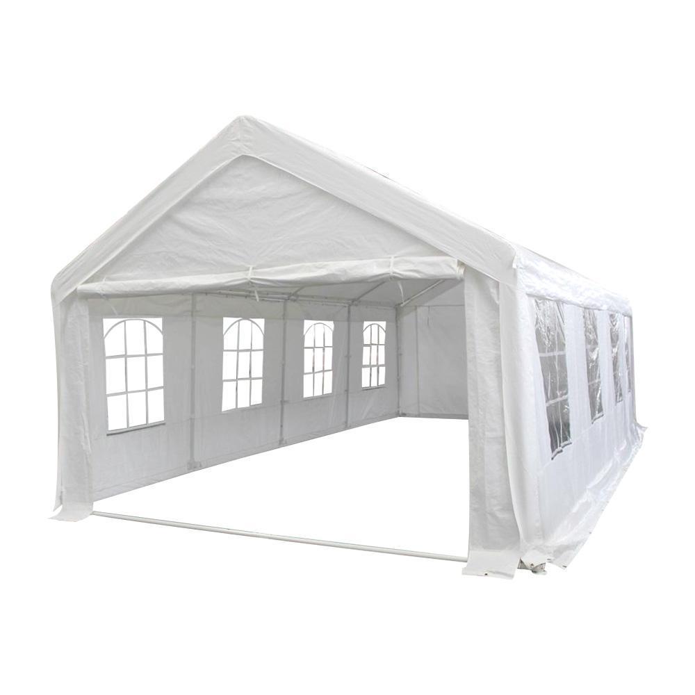Шатер большой со стенками, белый (6х10м)