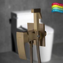Смеситель с гигиеническим душем Gappo бронза 7207-4