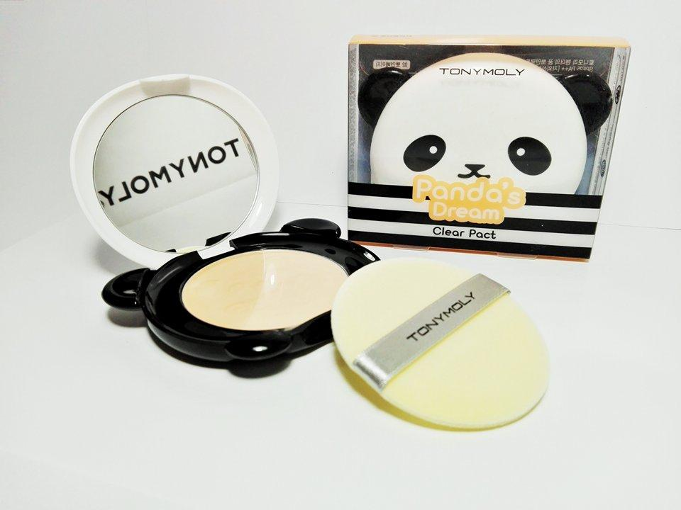 Пудра Panda's Dream Clear Pact SPF25+/PA++ 10g (Tony Moly) (#2 Beige)
