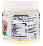 California Gold Nutrition, Органическое нерафинированное кокосовое масло, суперпродукт, холодного отжима, нера, фото 2