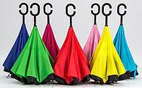 Зонт наоборот с ручкой (механический), фото 4
