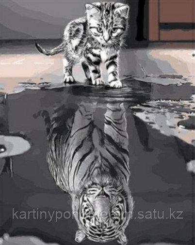 "Картина по номерам ""В душе тигр"""