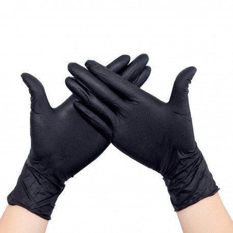 черные медицинские перчатки