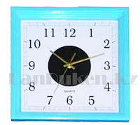 Настенные часы Quart Clock голубой корпус 2530