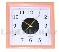 Настенные часы Quart Clock розовый корпус 2530