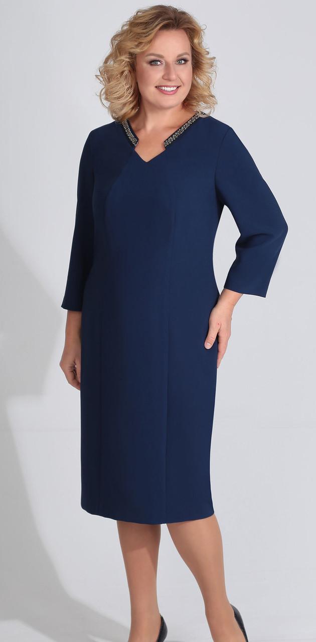 Платье Golden Valley-4614/1, темно-синий, 56