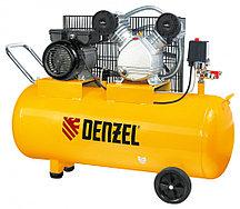 Компрессор пневматический, 2.2 кВт, 370 л/мин, 100 л Denzel