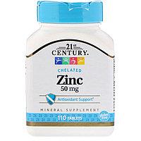 Цинк 50 мг, 21st Century, 110 таблеток