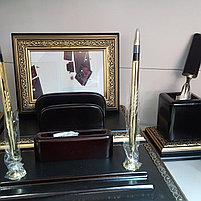 Набор настольный 9 предметов, дерево, черный/бордовый, отделка золотом Grand, фото 2