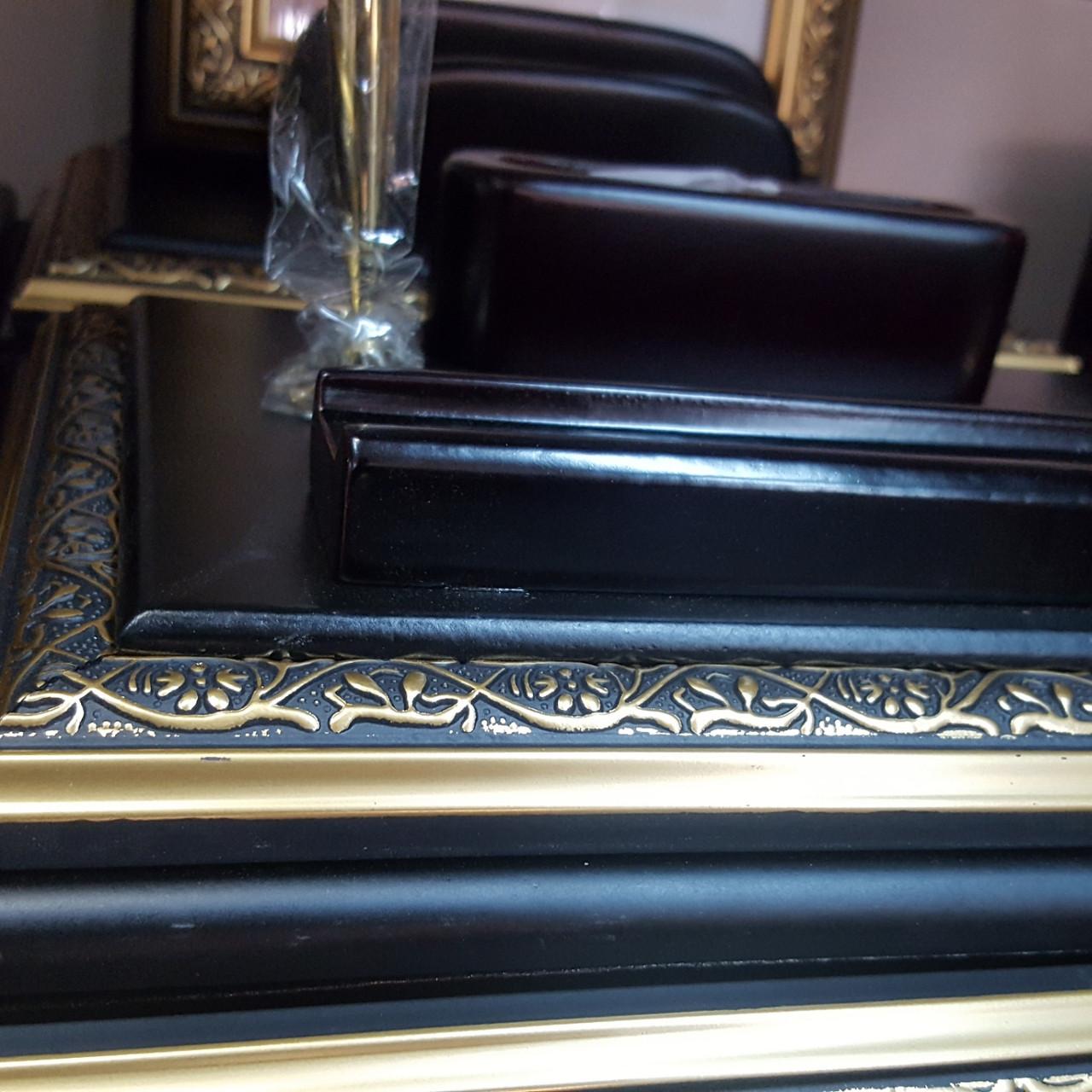 Набор настольный 9 предметов, дерево, черный/бордовый, отделка золотом Grand