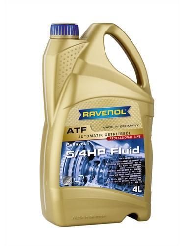 Трансмиссионная жидкость для АКПП RAVENOL ATF 5/4 HP Fluid 4L.
