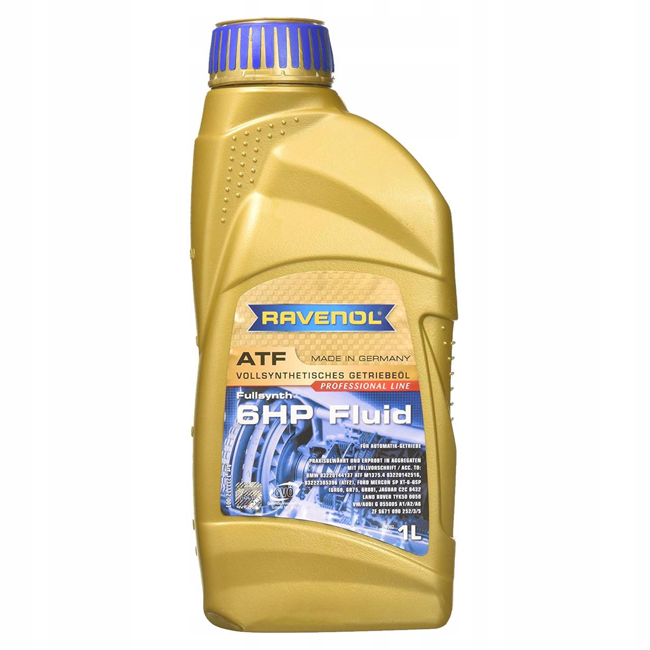 Трансмиссионное масло для АКПП RAVENOL ATF 6HP Fluid 1L.