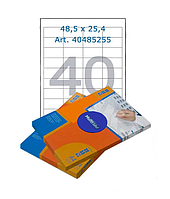 Этикетки самоклеящиеся Multilabel, А4, 48,5 х 25,4 мм., 40 шт/лист, 100 л.