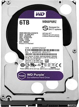 "Жесткий диск HDD 6000 Gb Western Digital (WD60PURZ), 3.5"", 64Mb, SATA III, Purple"