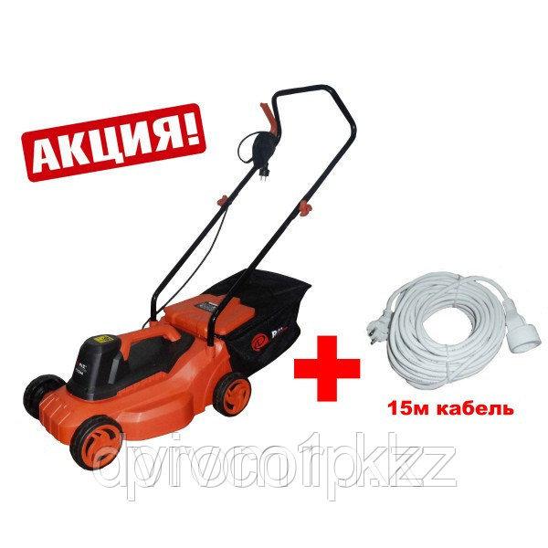 """""""P.I.T."""" Электрическая газонокосилка 1800 w Ø 380 mm + Р51015 ручной триммер и 15 м кабель"""