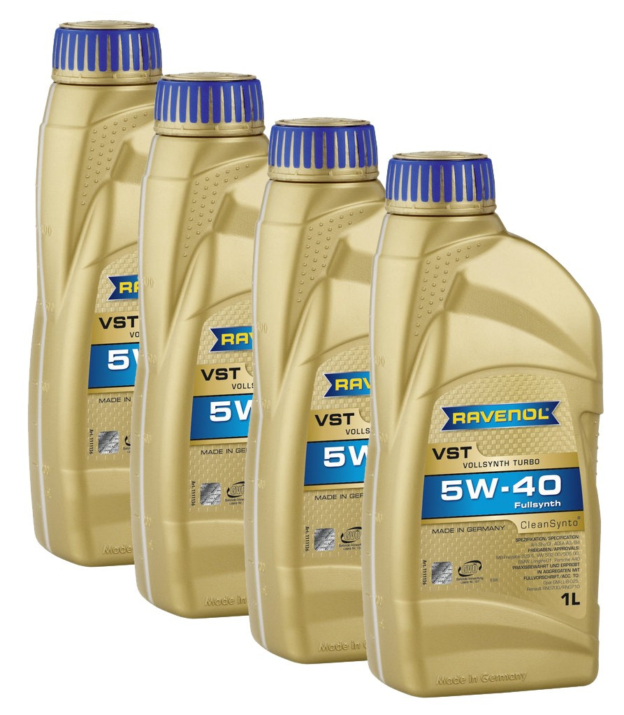 Моторное масло RAVENOL VSI SAE 5W-40 API SN 1L.