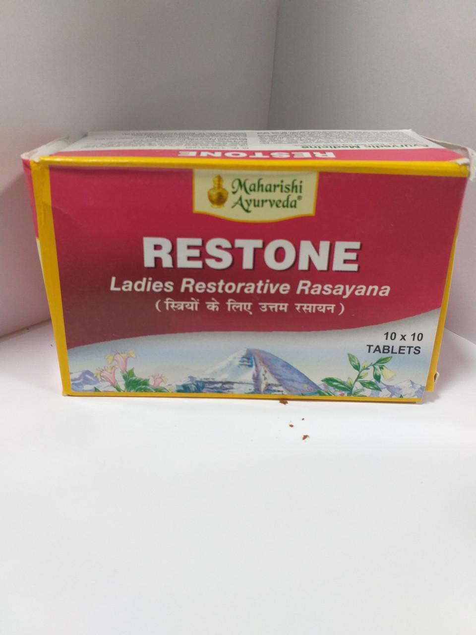 Рестон, 100 таблеток, Махариши Аюрведа, Restone, Maharishi Ayurveda, женский тоник