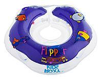 """Надувной круг на шею для купания малышей Flipper 0+ с музыкой """"Буль-буль водичка"""""""