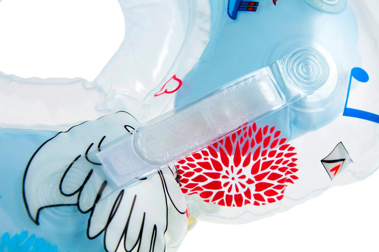 """Надувной круг на шею для купания малышей Flipper 0+ с музыкой из балета """"Лебединое озеро"""" голубой - фото 7"""