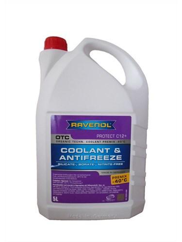 Антифриз Ravenol OTC Organic Technology Coolant Premix -40°C красно-лиловый 5L