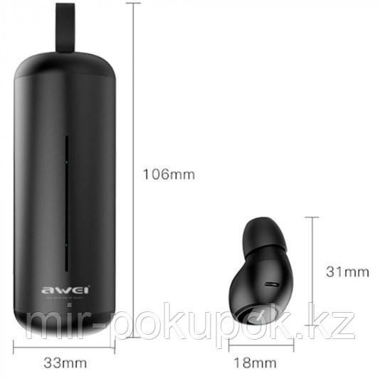 Бесспроводные портативные блютуз наушники Awei T5 с зарядным кейсом и микрофоном (bluetooth наушники) - фото 4