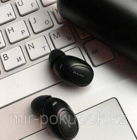 Бесспроводные портативные блютуз наушники Awei T5 с зарядным кейсом и микрофоном (bluetooth наушники) - фото 5