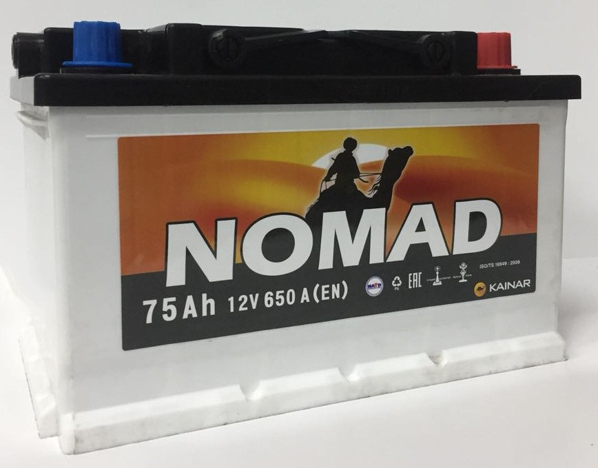 Аккумулятор автомобильный NOMAD 6СТ-75 VL AПЗ (0)