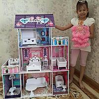 Кукольный дом с мебелью для Барби Именные домики