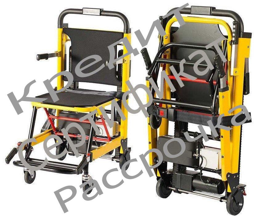 Подъемник лестничный, гусеничный для инвалидов, электрический, складной, мобильный 24v  200w.model DW-ST003A.
