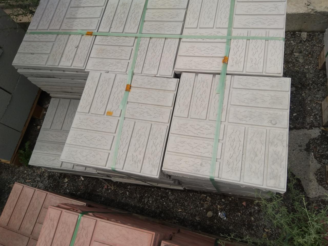 "Тротуарная плитка 330x330x30 ""Паркет""  Серый"