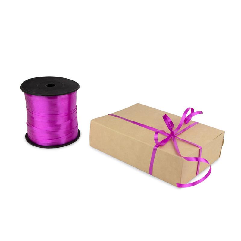 Лента декоративная 0,5 см (темно-розовая)*500 метров