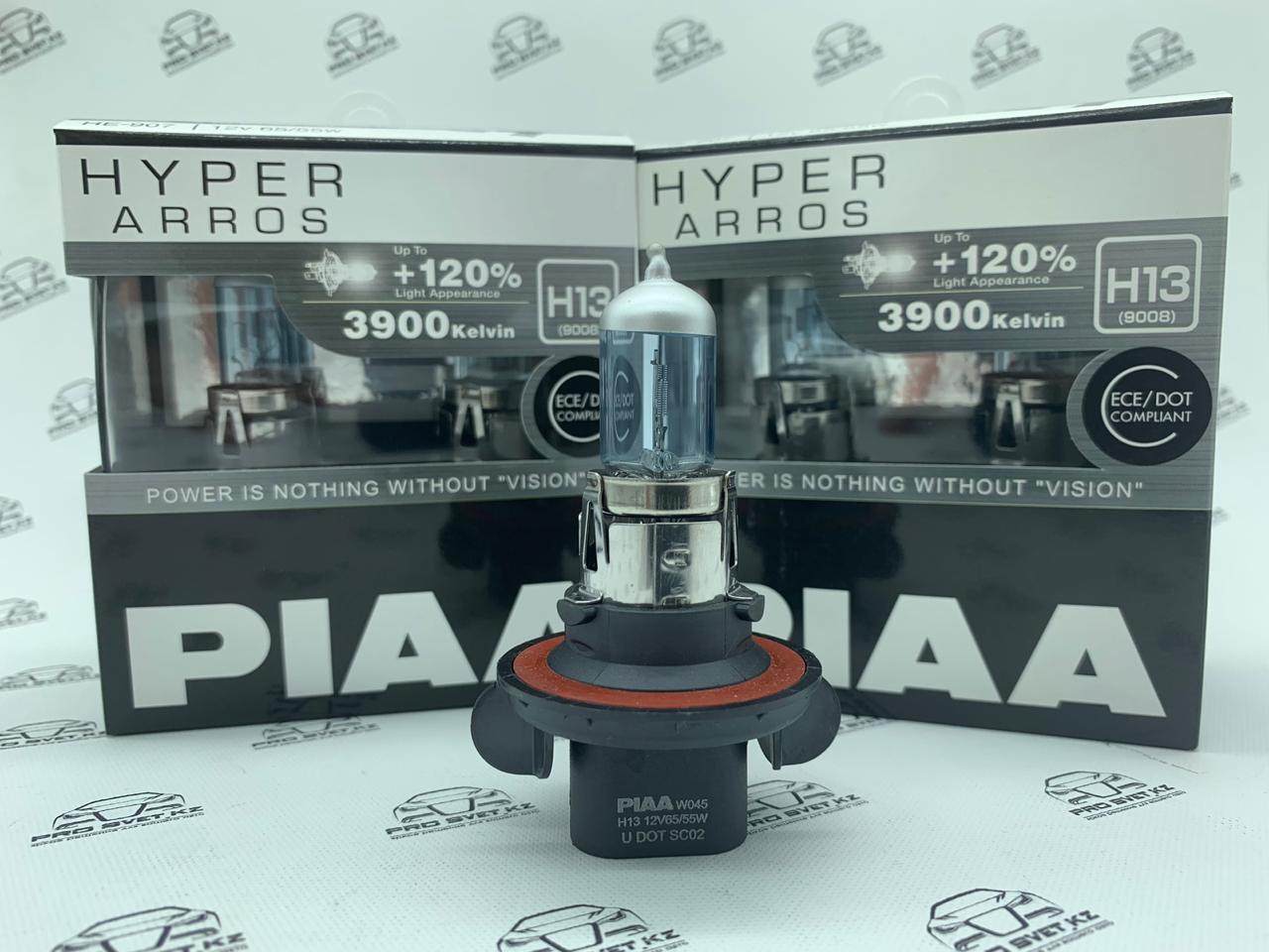 Автомобильные галогенные лампы H-13  PIAA Hyper Arros 3900K