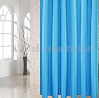 Водонепроницаемая тканевая шторка для ванной HangJie голубая  180*180 см 888