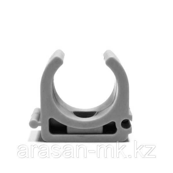 Крепежный хомут (клипса) д.25 мм (сер)
