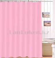 Водонепроницаемая тканевая шторка для ванной HangJie розовая 180*180 см 888