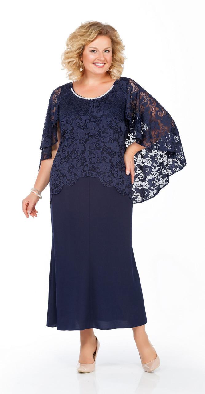 Платье Pretty-920, темно-синий, 56