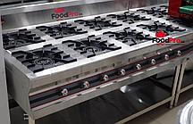 Газовая плита производственная 8 конфорочная