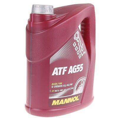 Масло трансмиссионное синтетическое Mannol ATF AG55 для современных 6-ступенчатых АКПП 4L.