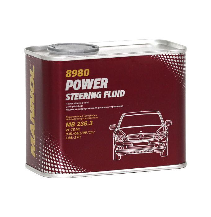 Гидравлическая жидкость MANNOL 8980 Power Steering Fluid (PSF) в ГУР 0,5L.