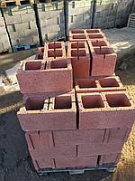 Сплитерный блок 390х190х190 гладкий   Красный